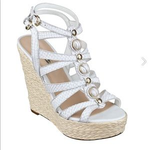 Guess Double Strap Wedges